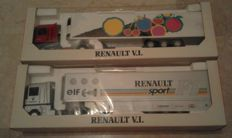 "LBS Louis Surber / Eligor - Scale 1/43 - Lot with 2 models: Renault AE 500 Magnum ""Rose"" & Renault AE 500 Magnum ""ELF Renault Sport F1"""