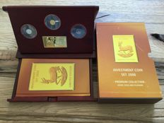 Krügerrand investment coin set 2006, silver, gold and platinum, rare!!, Limited edition of 5,000