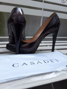 Casadei – Women's high-heeled court shoes, two colours. Made in Italy.