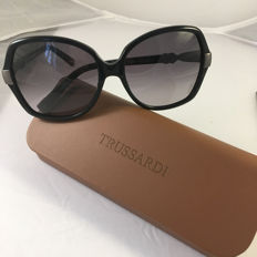 Trussardi TR12810 BK Black Grey Sunglasses- new