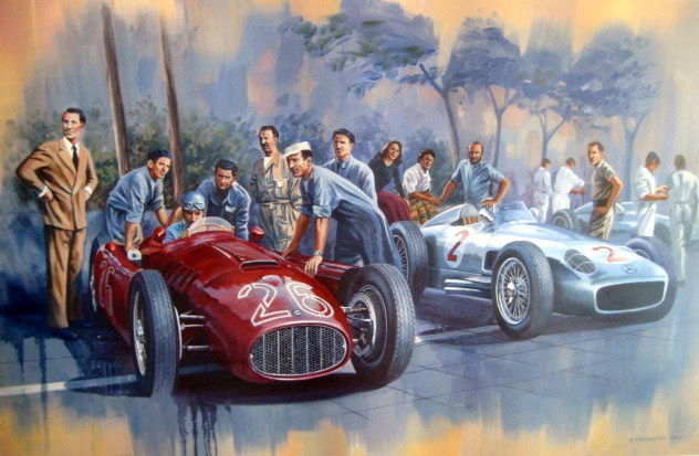 Decorative object - Alberto Ascari/Lancia D50 -  Monza 26-05 - 1955 (1 items)
