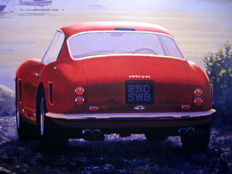 "Art Print - Exclusive Series - Ferrari 250 GT ""At Dawn"" - Artist : Keith Woodcock"