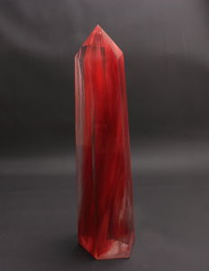 Fine, dark red Strawberry Quartz point - 29.7 x 8 x 7.6 cm - 1985gm