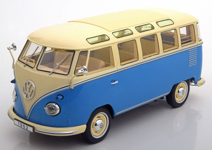 KK Scale - Scale 1/18 - Volkswagen Bulli T1 Samba Bus - Colour: Blue/ Cream