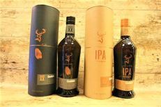 2 bottles - Glenfiddich Experimental series IPA & Project XX in original tubes – Limited Bottles