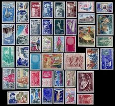 France 1970-1979 – Selection of 10 complete years – Yvert No. 1621/2072