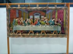 Gobelin piece of fabric reproducing the Last Supper painting