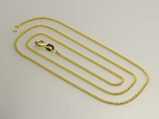 18k Gold Necklace. Gourmet Chain. Length 45 cm. No reserve price.