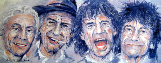 "The Rolling Stones - ""It,s Only Rocker'n Roller"" Coated Mat Offset 300gr/m2 - Fine Art Print"