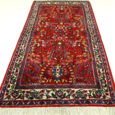 "Sarough – 123 x 66 cm. – ""Perzsian carpet in beautiful, nearly unused condition""."