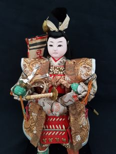 Musha Ningyo warrior doll - Japan - ca. 1900-1920