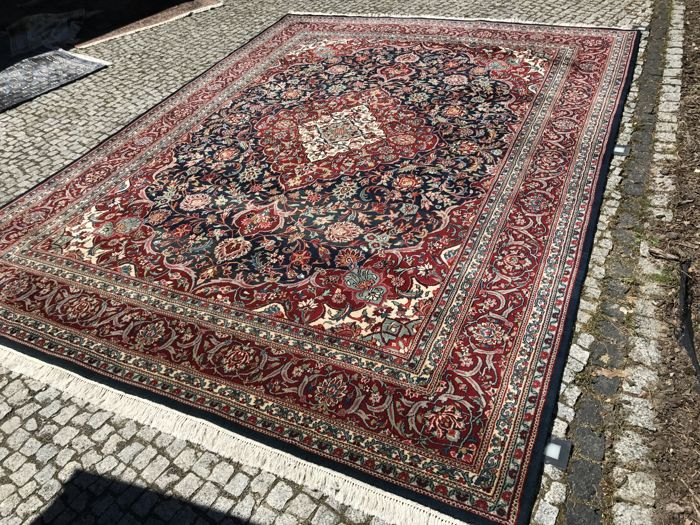 XXL INDO-KESHAN Rug Hand knotted 380x275cm TOP CONDITION
