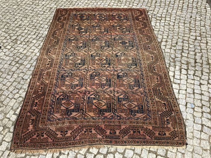Unique Vintage TURKMENISTAN Rug  -220x150cm -hand knotted