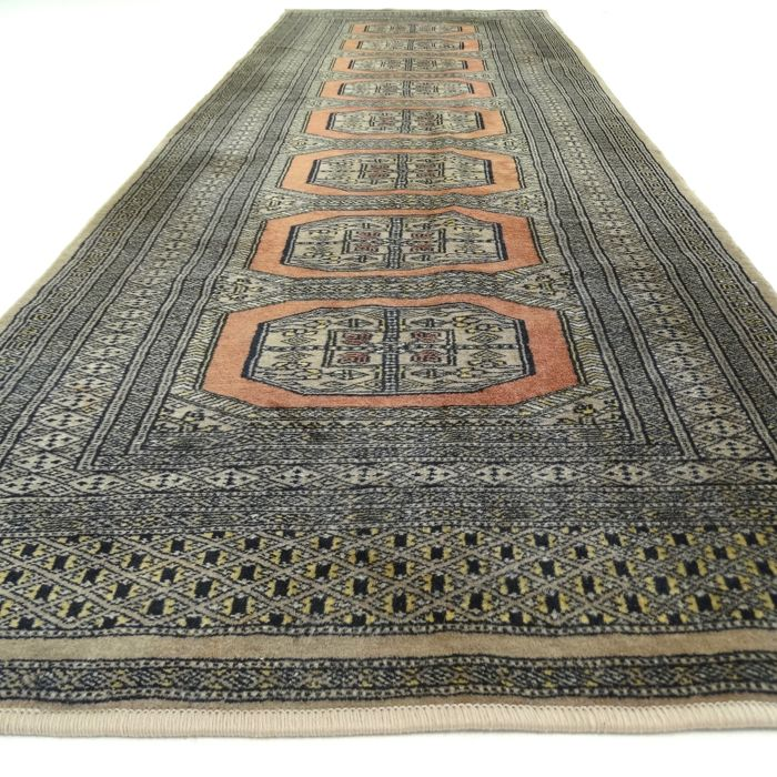 Bukhara - 234 x 80 cm - finely knotted, Persian runner - clean and in mint condition.