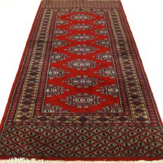 """Bouchara – 125 x 65 cm. – """"Finely knotted Persian carpet in beautiful, almost unused condition""""."""
