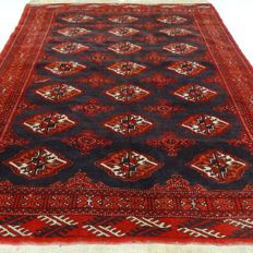 """Afghan - 157 x 116 cm - """"Authentic Persian rug - 100% wool - in beautiful condition""""."""