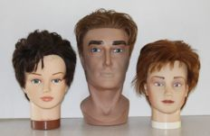 3 Ambition mannequin heads life size.