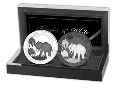 Somalia Elefant: Black & White Edition 2017, nur 500 Sets!