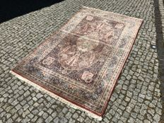 TOP CONDITION AND TOP QUALITY Indo-ghoum Rug-230x140cm -hand knotted with signature