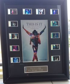 """Michael Jackson - Framed Film Cells """"This is It"""""""