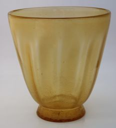 A.D. Copier (Leerdam) - Golden tin craquelure Sonoor vase