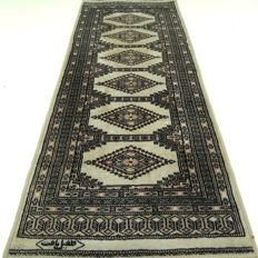 "Signed Bukhara, 169 cm x 64 cm, ""Persian runner rug in gorgeous condition"""