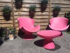 "Karim Rashid for Label – 2 x ""Kite Chair"" + ""Mini Kite Ottoman"""