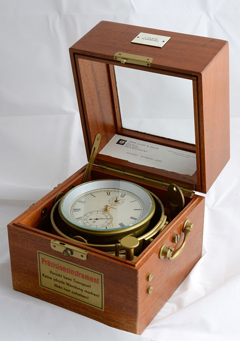 GUB Glasshütte - Q1 - Marine Schiffs Chronometer -20th century