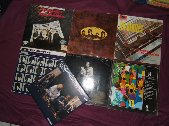 The Beatles & Related : 7 LP Albums including rare ...