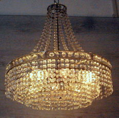Crystal chandelier - middle 20th century