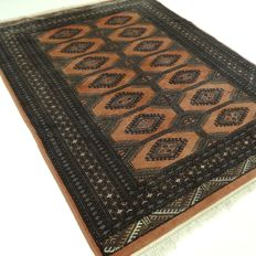 """Bukhara, 178 cm x 126 cm, """"salmon-pink Persian rug in gorgeous condition"""""""