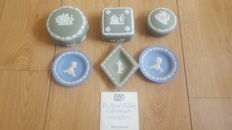 Vintage green and royal wedding  Wedgwood jasperware Set