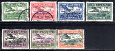 Albania - 1928 - airmail stamps with Vlone-Brindisi overprint, 162-168