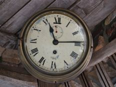 Smith Empire antique building ship's clock module in a solid brass case.