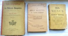 Cooking and bakery - Lot of 3 books - 1875/1930