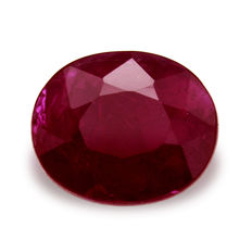Purple Red Ruby – 1.46 ct – No Reserve Price.