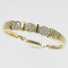 Ring with 21 diamonds - No Reserve Price - anno 1950