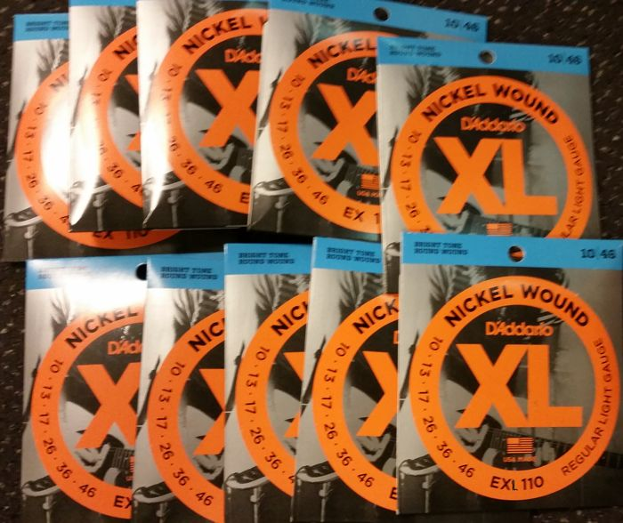 20 complete sets D'Addario EXL110 (010-046) stringset electric guitar, normal tension
