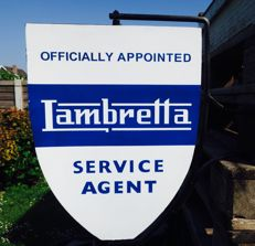 "Wall sign Lambretta ""SERVICE AGENT""."