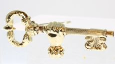 Victorian watch key, made into a brooch, ca.  1860