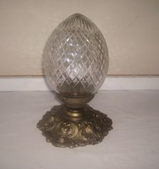 Pineapple Glass Pendant Lamp - vintage - second half of the 20th century