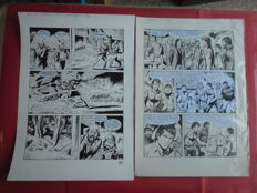 Torricelli, Marco - 2x original plates, Zagor special, pages 85 and 138