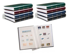 Accessories – eight Leuchtturm stock albums with sixty white pages.