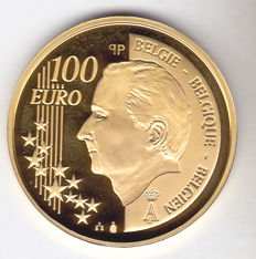 "Belgium – 100 euro 2005 ""175th Anniversary of Independence"" – 1/2 ounce gold"