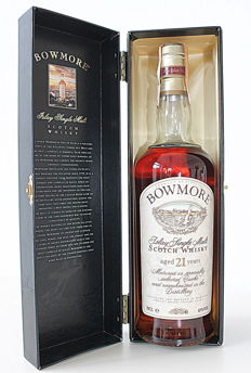 Bowmore 21 years old - Islay single malt scotch whisky - OB