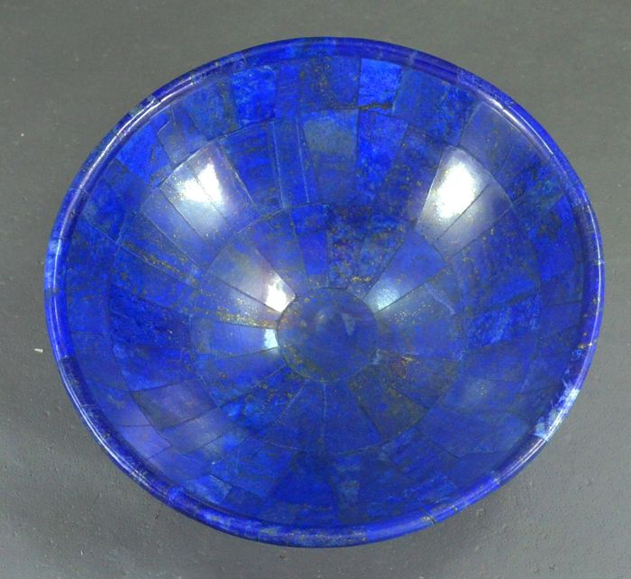 hand crafted royal blue lapis lazuli bowl 150 x 50 mm 390 gr catawiki. Black Bedroom Furniture Sets. Home Design Ideas