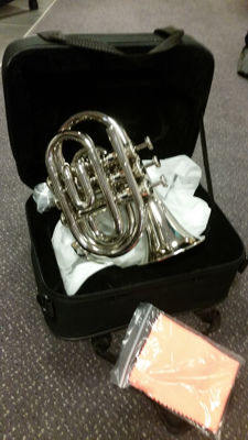 New ChS Pocket trumpet with solid case, Bb