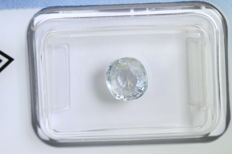 Very Light Yellow Sapphire – 1.25 ct
