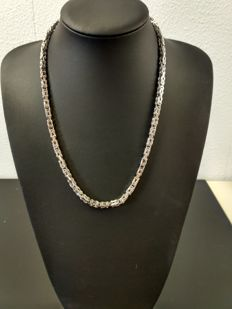 915 silver king's braid necklace - 55cm - 70g