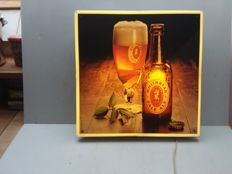 Old illuminated advertising sign whitbread pale ale - Belgium-1977.